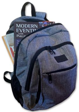 backpack full of horsey books