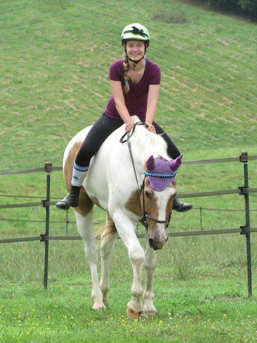 bareback ride in the pasture for No-Stirrup November