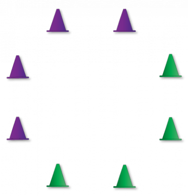 #stayathomechallenge - circle of 8 cones