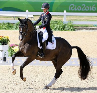Valegro and Charlotte in the dressage ring